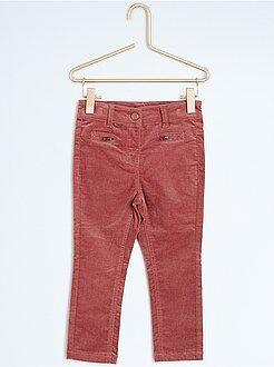 Pantalones, piratas - Pantalón pitillo de terciopelo