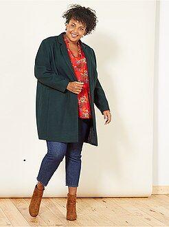 Tallas grandes mujer - Pantalón pitillo tobillero deshilachado - Kiabi