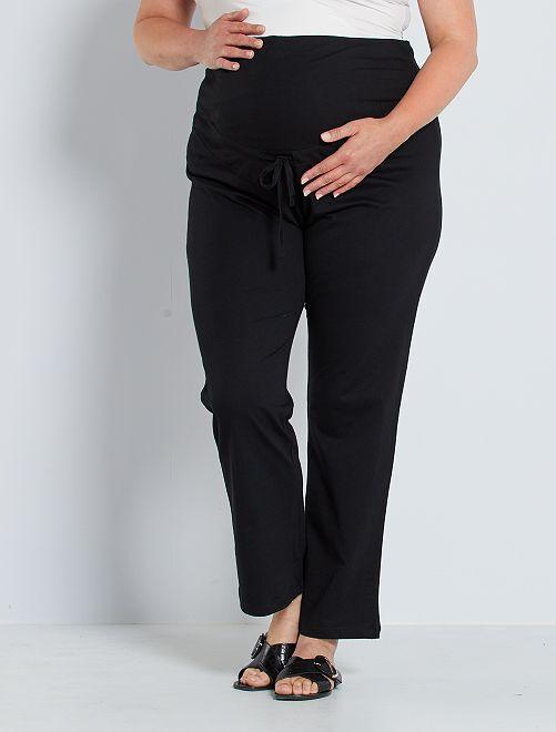 Pantalón premamá cómodo 'eco-concepción'                                         negro