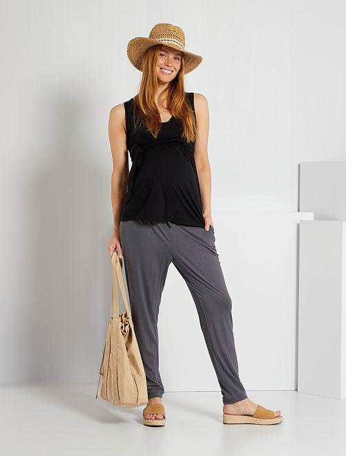 Pantalón premamá cómodo                                                     GRIS