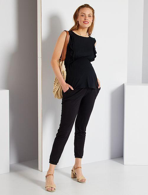Pantalón premamá cómodo                                                     negro