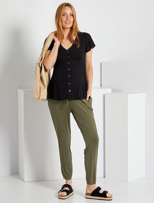 Pantalón premamá cómodo                                                     verde oscuro