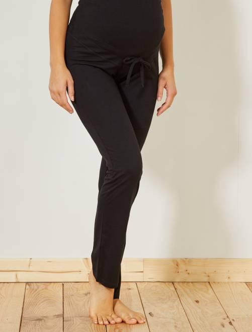 Pantalón premamá de descanso 'eco-concepción'                             negro