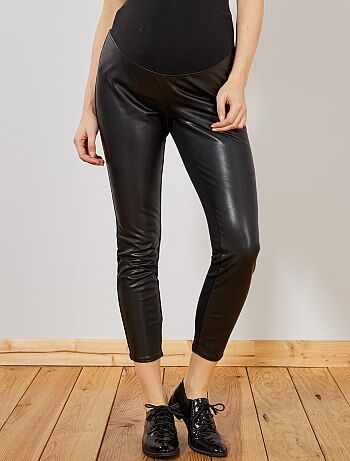 736ad67dddd Mujer talla 34 a 48 - Pantalón premamá de dos materiales - Kiabi