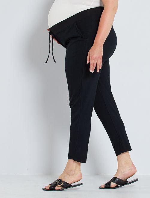 Pantalón premamá de punto                                         negro