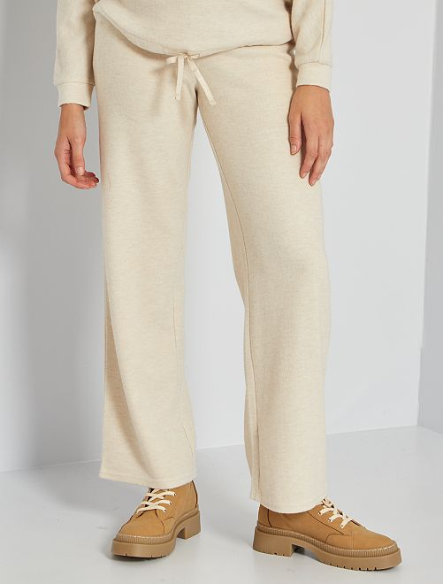 Pantalón premamá de punto suave                                         BEIGE