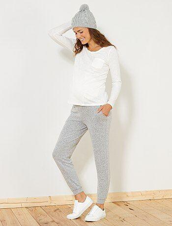 Mujer talla 34 to 48 - Pantalón premamá de punto suave - Kiabi