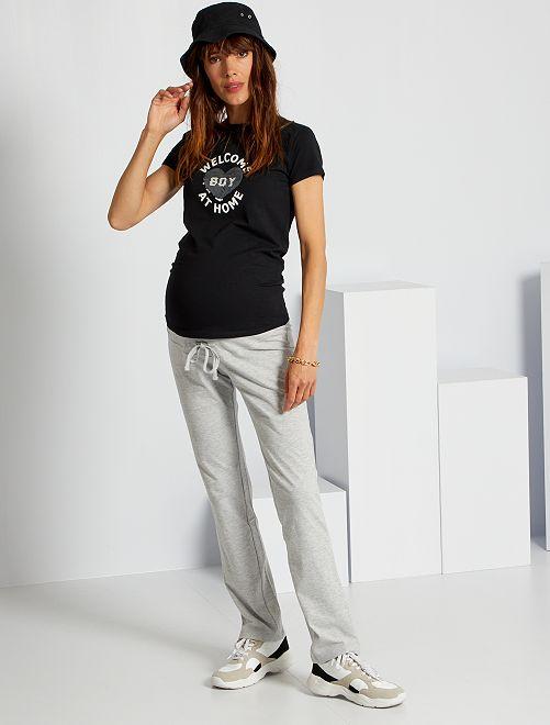 Pantalón premamá eco-concepción                                                     GRIS