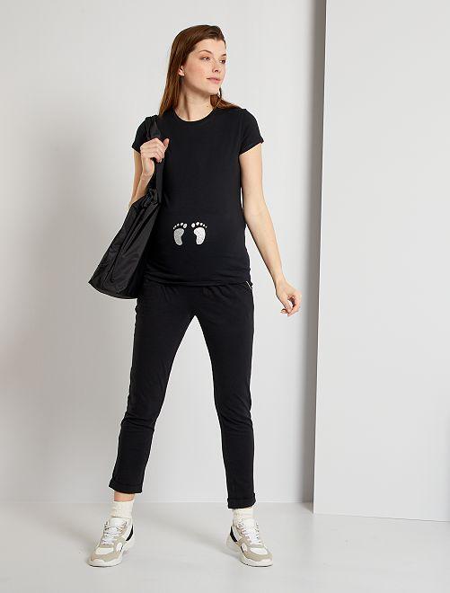 Pantalón premamá eco-concepción                                         negro