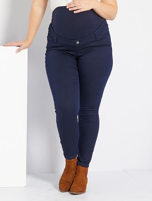 Pantalón premamá skinny elástico                                         azul