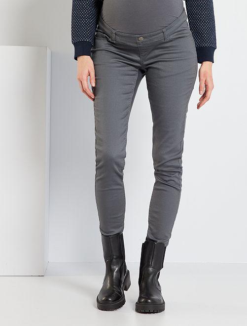 Pantalón premamá skinny                                                                 GRIS