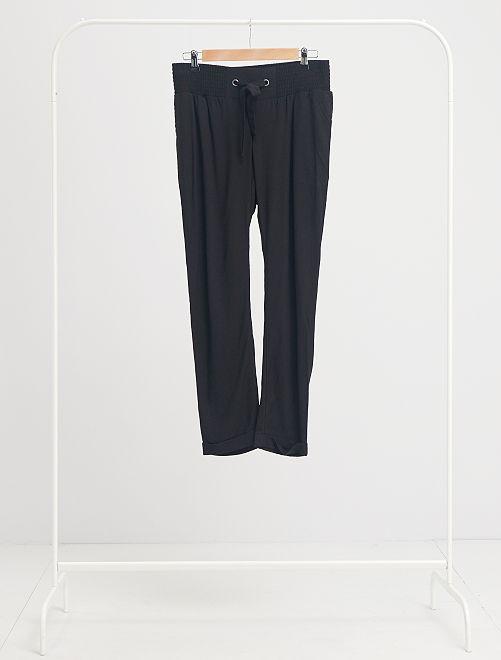 Pantalón premamá vaporoso                                         negro