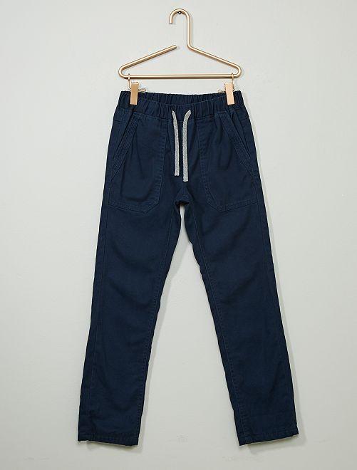 Pantalón recto abrigado                                                                 azul