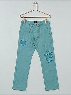 Pantalones - Pantalón recto con forro de punto - Kiabi