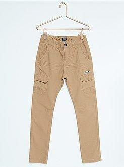Pantalones - Pantalón recto de lona estilo aventurero