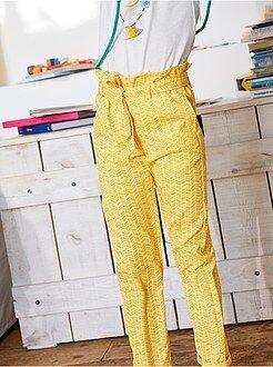Pantalón recto de material vaporoso con estampado - Kiabi