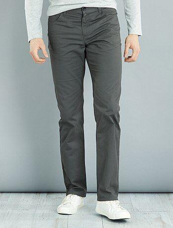 Pantalón recto de sarga de algodón L36 +1,90m - Kiabi