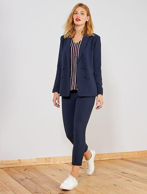 Pantalón recto estilo sastre                                 AZUL Mujer talla 34 a 48
