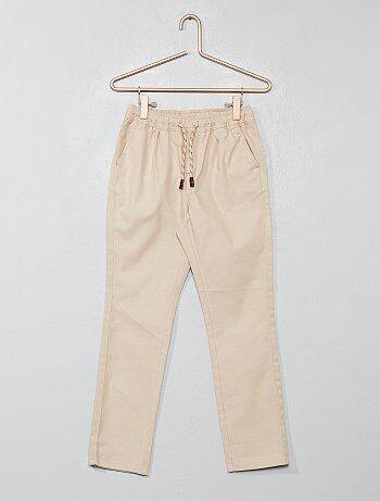 00370a9b27f Pantalón recto liso - Kiabi