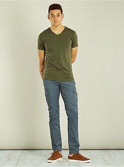 Pantalones de bolsillos - Pantalón recto tipo cargo - Kiabi