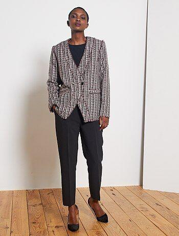 Pantalones Tobilleros Mujer Talla 34 A 48 Negro Kiabi