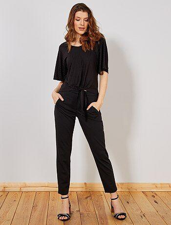 ab5a6d5eba0b Pantalones de vestir Mujer | negro | Kiabi