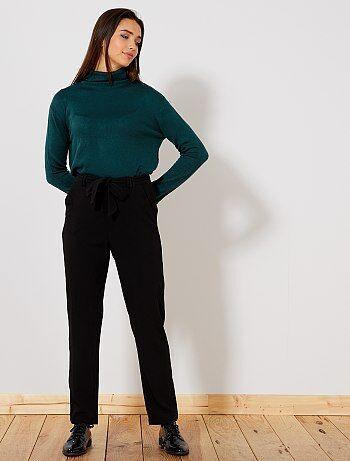 Mujer talla 34 to 48 - Pantalón recto vaporoso 'JDY' - Kiabi