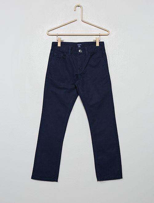 Pantalón regular liso                                                                 azul