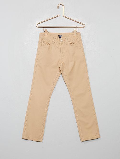 Pantalón regular liso                                                     BEIGE