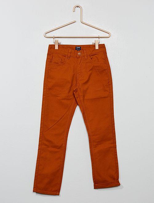 Pantalón regular liso                                                                                                     NARANJA