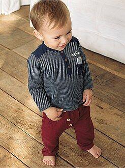 Pantalones - Pantalón sarouel con detalles de botones - Kiabi