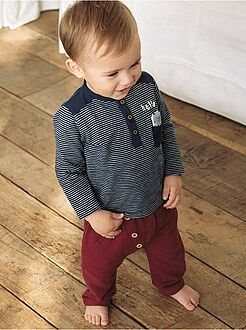 Pantalones, vaqueros, calzoncillos - Pantalón sarouel con detalles de botones - Kiabi