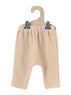 Pantalón sarouel de felpa