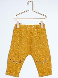 Pantalón sarouel de felpa brillante