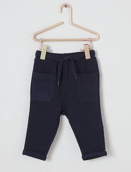 Pantalón sarouel eco-concepción                                                     AZUL
