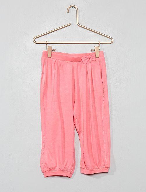 Pantalón sarouel vaporoso                                         ROSA Chica