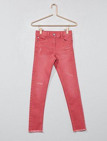 Pantalón skinny con acabado de flecos - Kiabi
