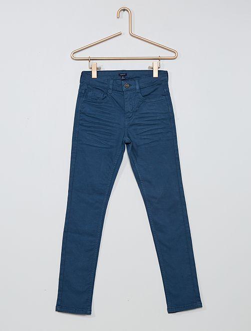 Pantalón skinny con cinco bolsillos                                                                                                                                                                                         AZUL
