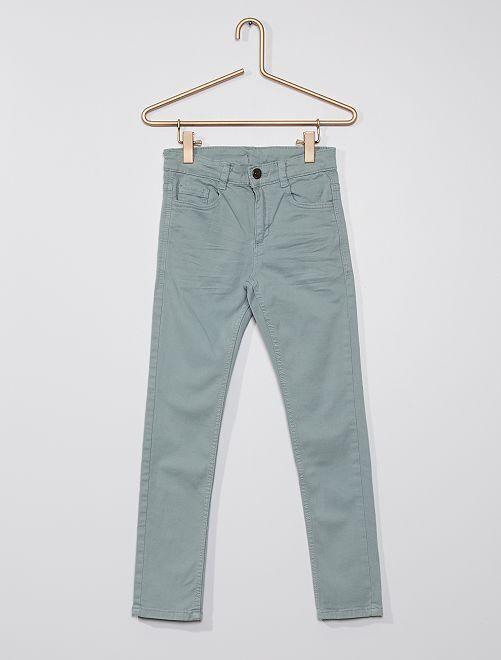 Pantalón skinny con cinco bolsillos                                                                                                                                                                                                     azul pizarra