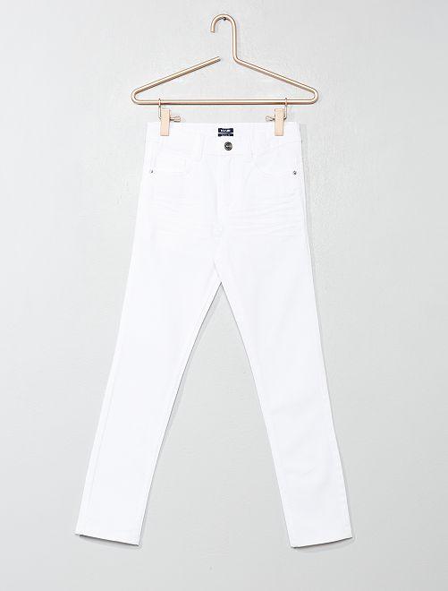 Pantalón skinny con cinco bolsillos                                                                                                                                                     BLANCO