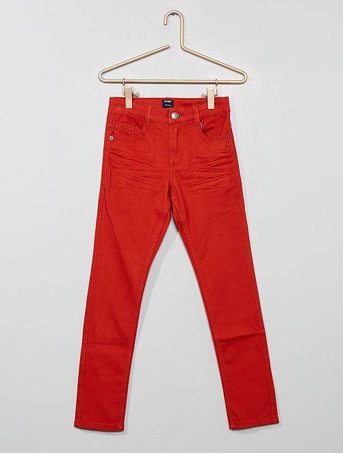 Pantalón skinny con cinco bolsillos                                                                                                                                                                                         naranja ketchup