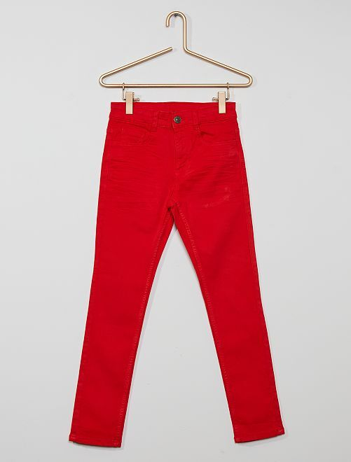 Pantalón skinny con cinco bolsillos                                                                                                                                                                                                                 rojo