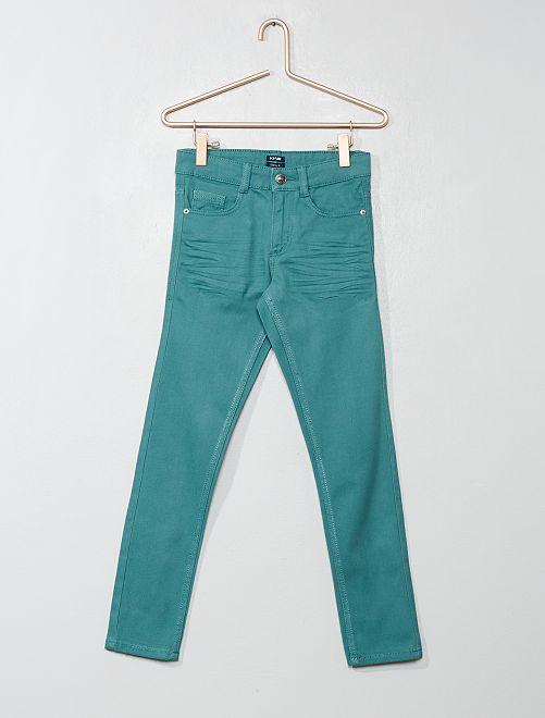 Pantalón skinny con cinco bolsillos                                                                                                                             verde gris Chico