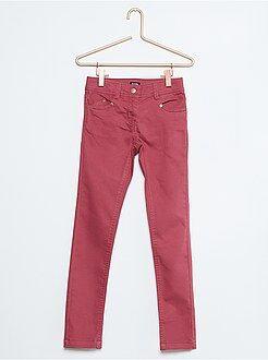 Niña 4-12 años Pantalón skinny de algodón elástico