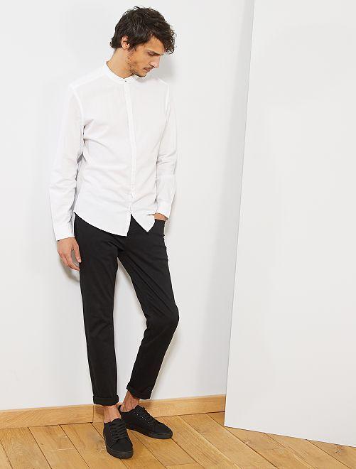 Pantalón skinny de algodón elástico                                                                                                                 negro