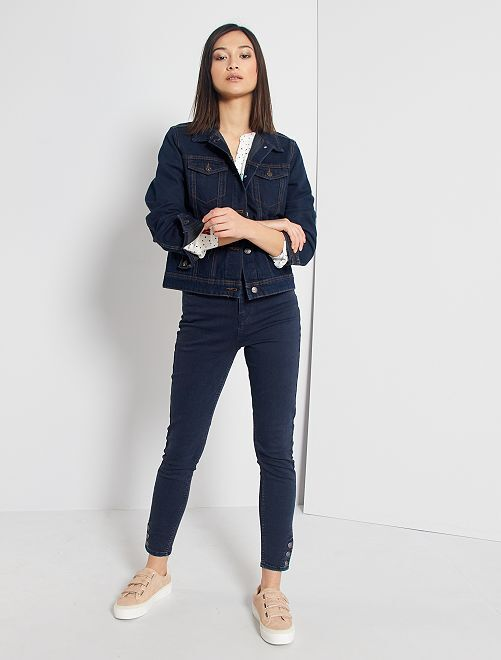 Pantalón skinny de color                                                                 azul