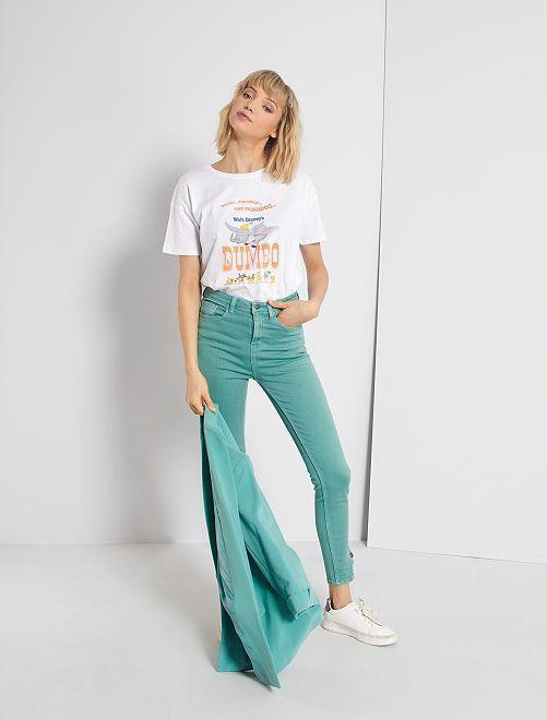 Pantalón skinny de color                                                                 VERDE
