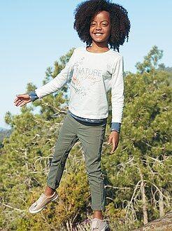 Niña 3-12 años Pantalón skinny de color