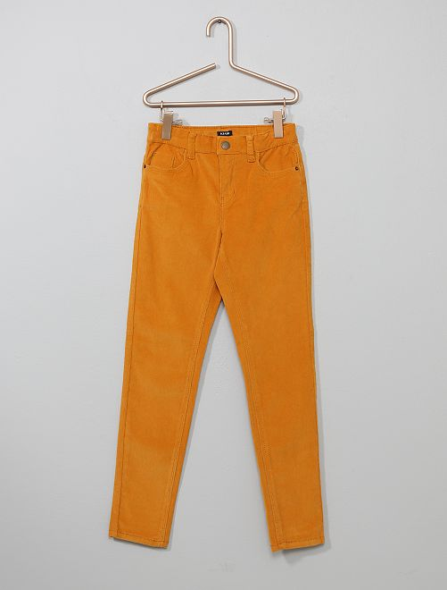 Pantalón skinny de pana                                                                                                     AMARILLO