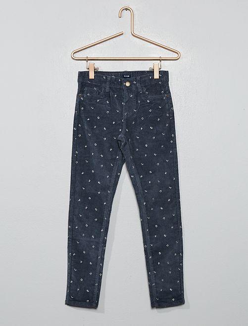 Pantalón skinny de pana                                                                                                     GRIS